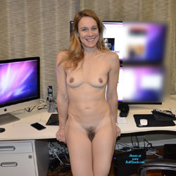 Naked Blonde In Her Workspace - Blonde Hair, Firm Tits, Full Nude, Hairy Bush, Hairy Pussy, Hard Nipple, Nipples, Naked Girl, Sexy Body, Sexy Face, Sexy Figure, Sexy Girl, Sexy Legs, Amateur