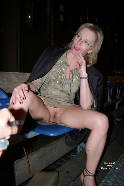 Pic #1 - Pantyless MILF Flashing Pussy Outdoor - Blonde Hair, Flashing, Milf, Pussy Flash, Wife Pussy , Flashing Pussy, Pantyless, Girl Wearing Glasses, Spreading Her Legs, Black Man's Dress Jacket