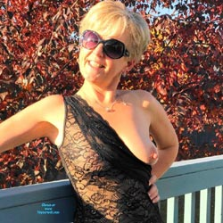 Fall Splendour  - Big Tits, Blonde, Outdoors, See Through, Amateur, Big Nipples