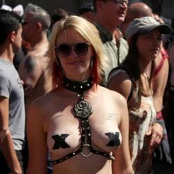 Folsom Street Fair 2 - Big Tits, Outdoors, Topless Girls