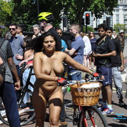 WNBR 2017 - Nude Girls, Big Tits, Outdoors, Public Place