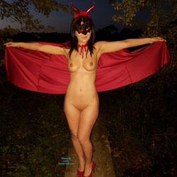 Devilicious - Big Tits, Brunette, Lingerie, Outdoors, Amateur, Costume, Shaved