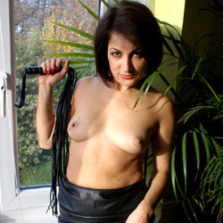 Anna (39) Leather Skirt And Whip Part 2 - Nude Girls, Brunette, Amateur