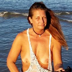 Loving the Beach! - Beach, Big Tits, Outdoors, Redhead, Amateur
