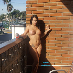 Just Having Some Fun - Nude Wives, Big Tits, Brunette, Public Exhibitionist, Outdoors, Public Place, Amateur