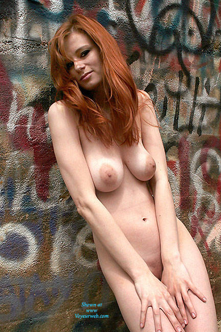 Pic #1 Art Wall - Nude Girls, Big Tits, Outdoors, Redhead, Shaved