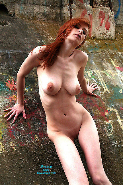 Pic #6 Art Wall - Nude Girls, Big Tits, Outdoors, Redhead, Shaved