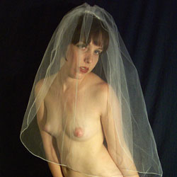 Wedding Dress - Shaved, Puffy Tits