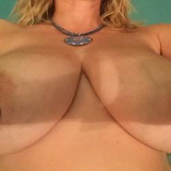 Very large tits of my wife - Lovestobenaked