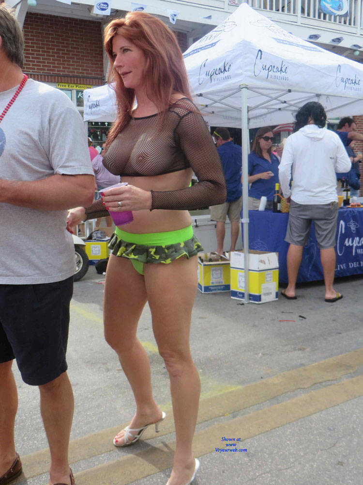 Pic 6 Fantasy Fest In Key West Big Tits Public Exhibitionist Outdoors