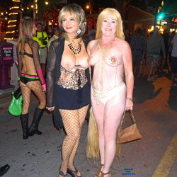 Fantasy Fest In Key West - Big Tits, Public Exhibitionist, Outdoors, Public Place