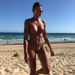 Nude Beach  - Nude Girls, Beach, Big Tits, Brunette, Outdoors, Shaved, Amateur
