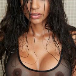 Large tits of a co-worker - Kiana
