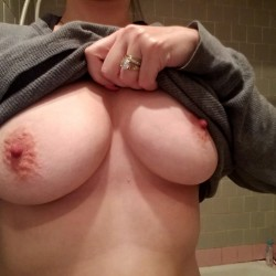 Large tits of my wife - Crytl