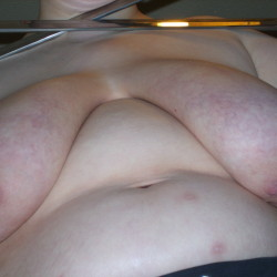 Extremely large tits of my ex-girlfriend - biiiig hangers