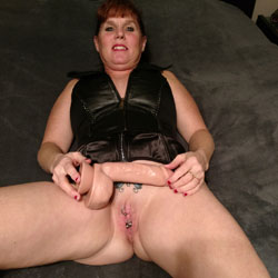 Lisa And Her New Toy - Redhead, Toys, Shaved, Amateur, Body Piercings, Tattoos