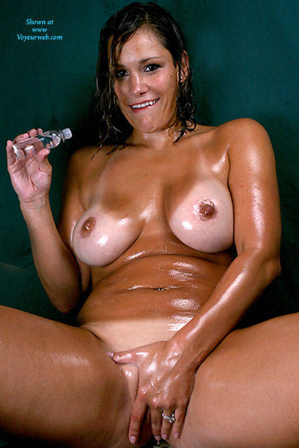 Big natural tits oil massage sex