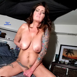 Home Alone  - Big Tits, Brunette, Toys, Shaved, Amateur, Tattoos