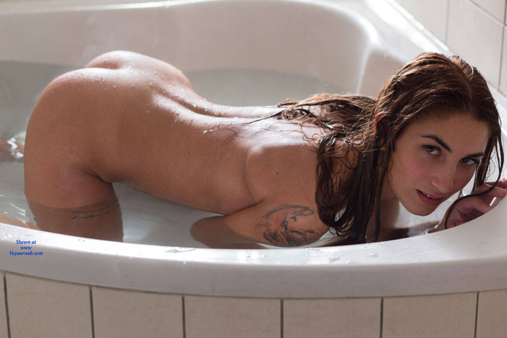 Pic #2 Bathing For My First Contribution - Nude Girls, Brunette, Shaved, Amateur, Firm Ass