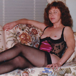 Wife Barbie After A Friends Party - Wives In Lingerie, High Heels Amateurs, Redhead