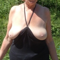 Outdoor Flashing - Big Tits, Mature