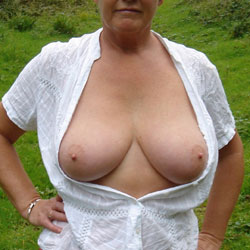 Found Some Older Pics On A Disc And Thought You Would Enjoy - Big Tits, Outdoors, Amateur, Topless Wives