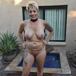 Internet Photo Shoot - Nude Wives, Big Tits, Blonde, Outdoors, Amateur, Tattoos