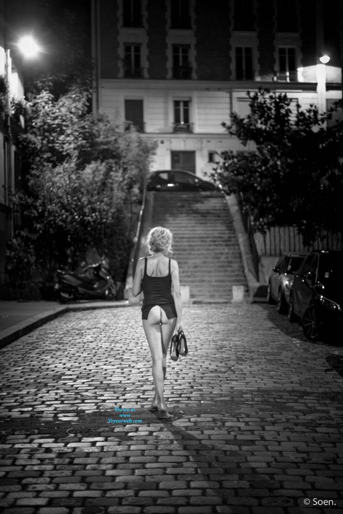 Pic #2 Paris - Pantieless Girls, Public Exhibitionist, Flashing, Outdoors, Public Place, Long Legs