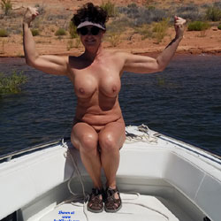 Naked Fun On The Boat - Big Tits, Brunette, Mature, Outdoors, Amateur