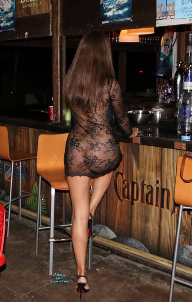 Pic #4 Just Me - Nude Girls, Brunette, Public Exhibitionist, Flashing, High Heels Amateurs, Outdoors, Public Place