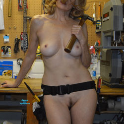 Zeena Plays With Tools - Nude Wives, Big Tits, Bush Or Hairy, Amateur