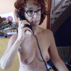 Sabine On The Phone - Nude Girls, Big Tits, Bush Or Hairy, Amateur