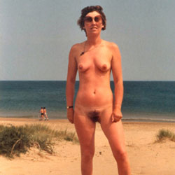 A Day At The Beach - Nude Amateurs, Beach, Brunette, Outdoors, Bush Or Hairy
