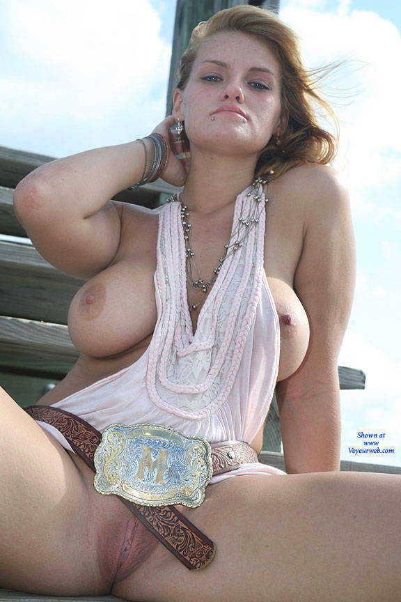 Pic #8 Pier In The Sun - Big Tits, Outdoors, Shaved