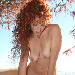 Lakeside Cypress Tree - Nude Girls, Big Tits, Outdoors, Redhead, Shaved, Close-Ups, Body Piercings