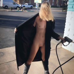 Nirvana Car Wash - Nude Wives, Blonde, Public Exhibitionist, Flashing, Outdoors, Public Place, Shaved, Amateur