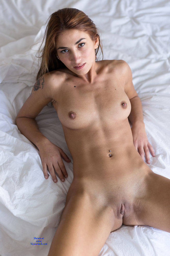 Pic #7 Teasing On Bed - Nude Girls, Big Tits, Brunette, Shaved, Amateur, Firm Ass, European And/or Ethnic