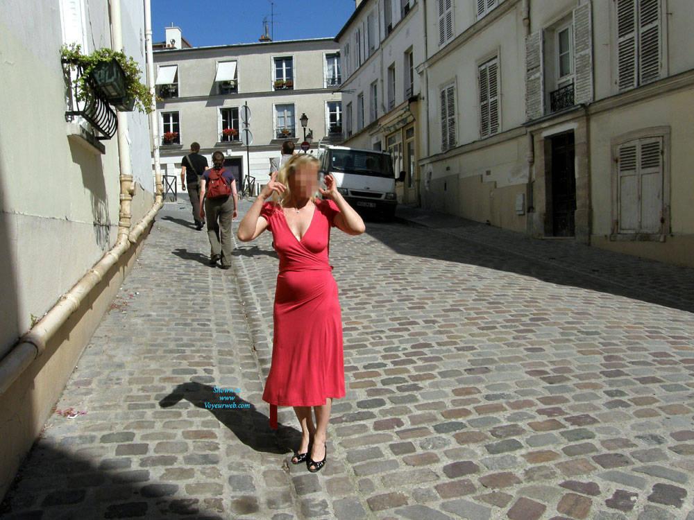 Pic #1 Rue du Chevalier de La Barre - Big Tits, Public Exhibitionist, Flashing, Outdoors, Public Place, Amateur