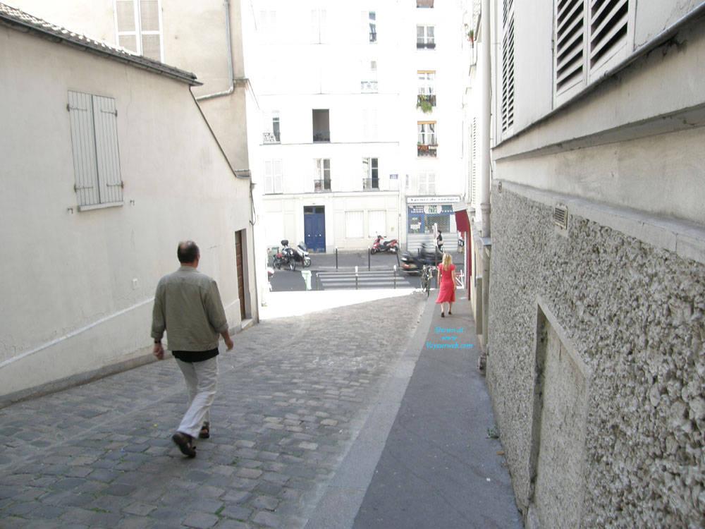 Pic #10 Rue du Chevalier de La Barre - Big Tits, Public Exhibitionist, Flashing, Outdoors, Public Place, Amateur