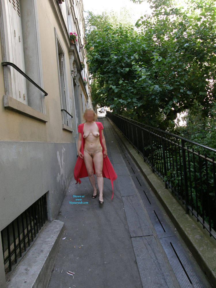 Pic #8 Rue du Chevalier de La Barre - Big Tits, Public Exhibitionist, Flashing, Outdoors, Public Place, Amateur