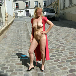 Rue du Chevalier de La Barre - Big Tits, Public Exhibitionist, Flashing, Outdoors, Public Place, Amateur