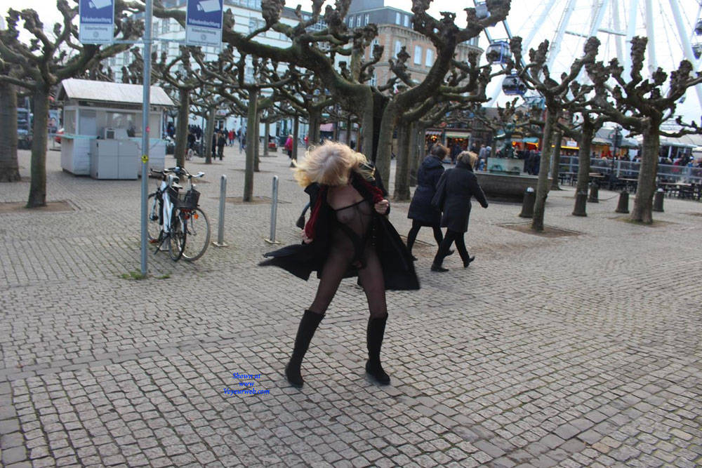 Pic #9 Duesseldorf 2018 Part 1 - Public Exhibitionist, Flashing, Lingerie, Outdoors, Public Place, See Through