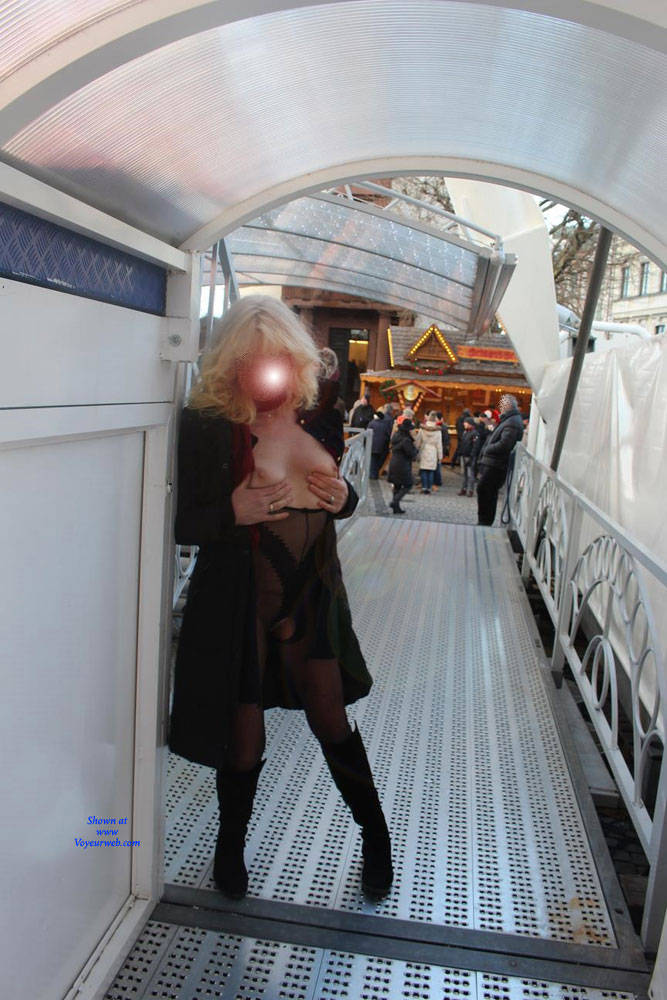 Pic #8 Duesseldorf 2018 Part 2 - Public Exhibitionist, Flashing, Lingerie, Outdoors, Public Place, See Through