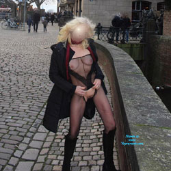 Duesseldorf 2018 Part 2 - Public Exhibitionist, Flashing, Lingerie, Outdoors, Public Place, See Through