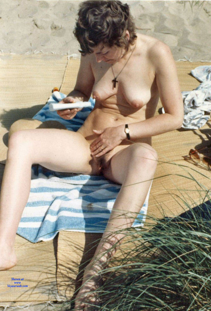 Pic #2 Work On The Beach - Nude Wives, Beach, Brunette, Outdoors, Bush Or Hairy, Amateur