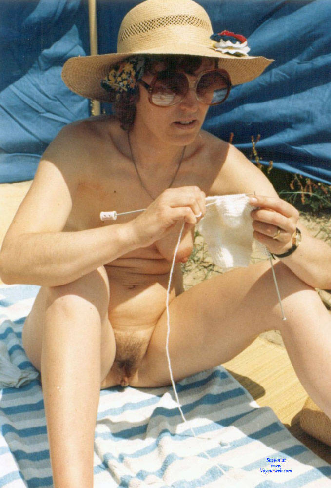 Pic #9 Work On The Beach - Nude Wives, Beach, Brunette, Outdoors, Bush Or Hairy, Amateur