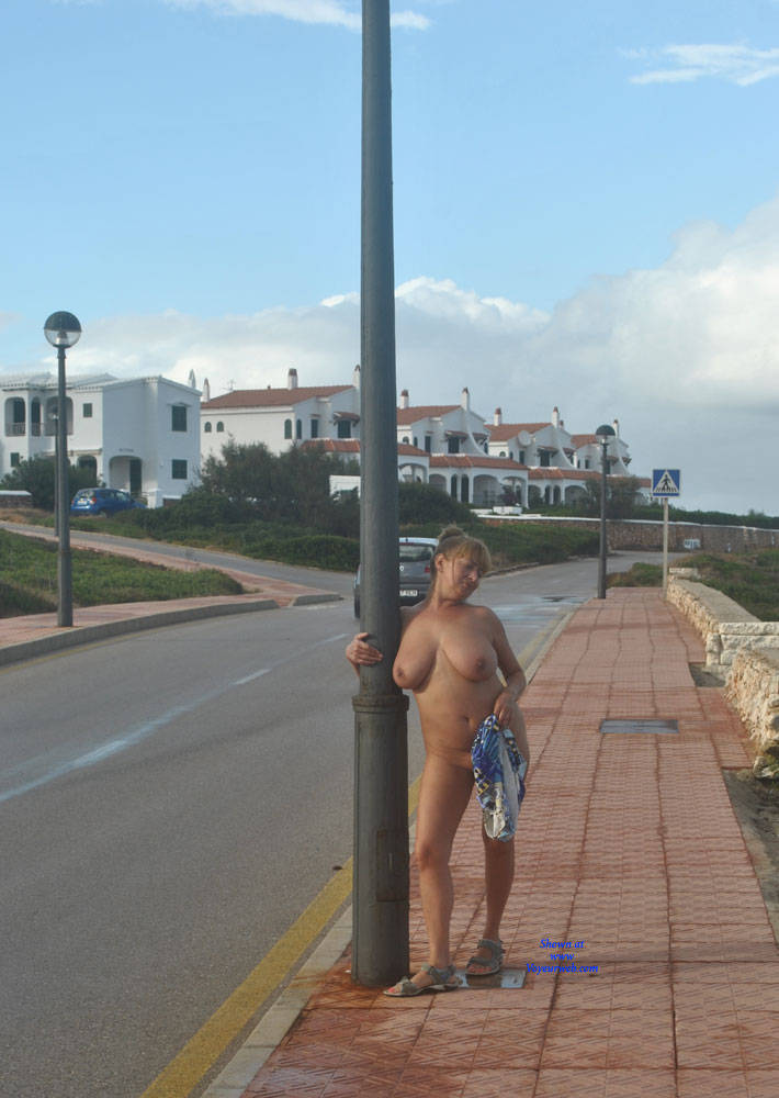 Pic #3 Nude Walk To Our Locations - Nude Girls, Big Tits, Public Exhibitionist, Flashing, Outdoors, Public Place, Amateur