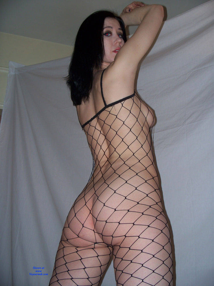 Pic #2 Raven Poses In Fishnet Bodysuit And Nude - Nude Girls, Brunette, Bush Or Hairy
