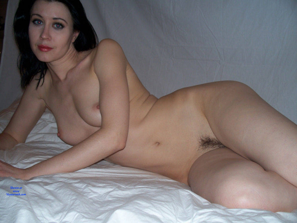 Pic #6 Raven Poses In Fishnet Bodysuit And Nude - Nude Girls, Brunette, Bush Or Hairy