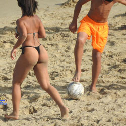 Beach Soccer In Recife City - Beach, Outdoors, Bikini Voyeur, Beach Voyeur